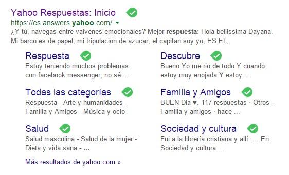 Yahoo respuestas posicionamiento seo local